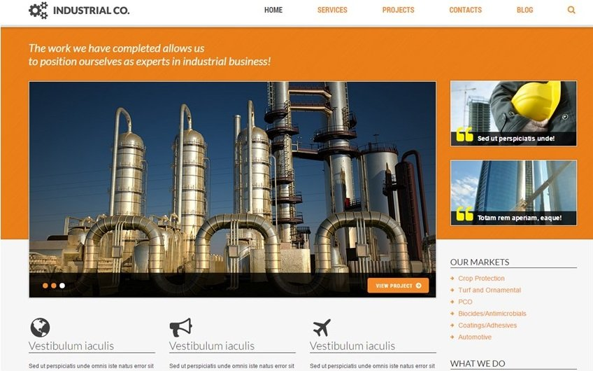 TotalWeb Industrial Company Theme Screenshot