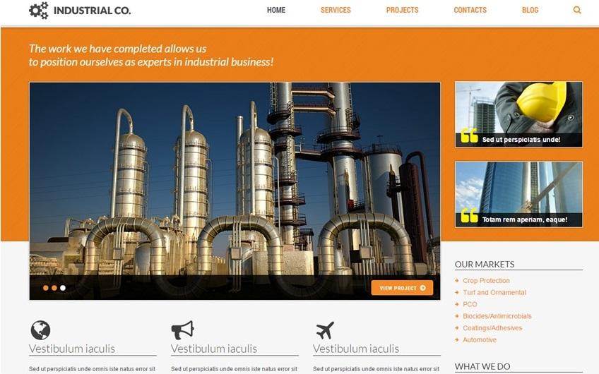 TotalWeb Industrial Company Theme Screenshot