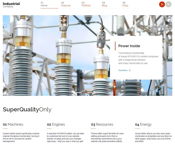 Recommended Industrial Website Theme