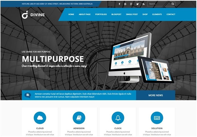 TotalWeb Partners Recommended Multipurpose Website Theme Screenshot