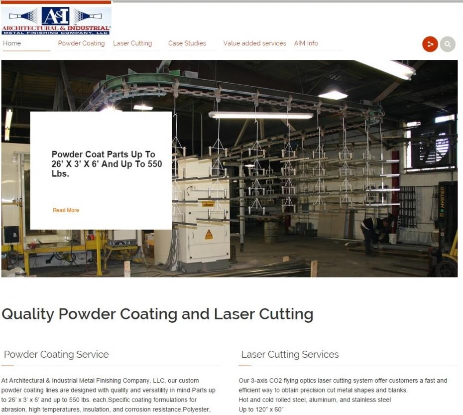 AIM Home Page Screenshot