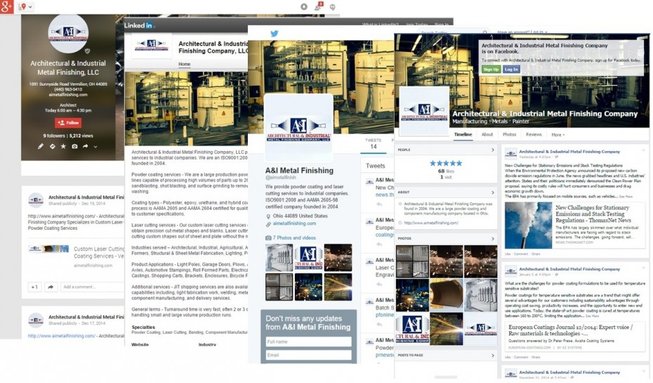 AIM social Media Screenshots
