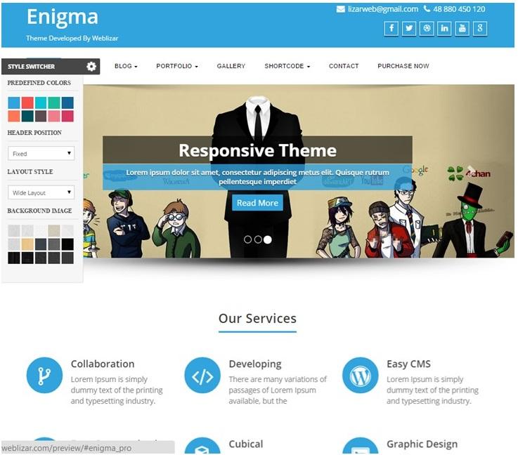 Enigma Theme Screenshot