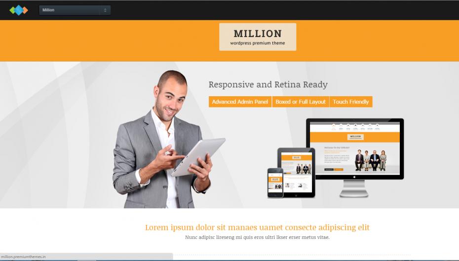 Million Webpage Theme