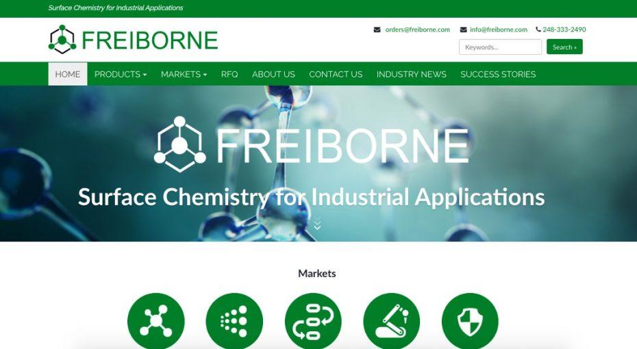 Freiborne website preview