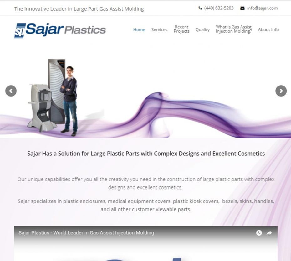 Sajar Home Page Screenshot