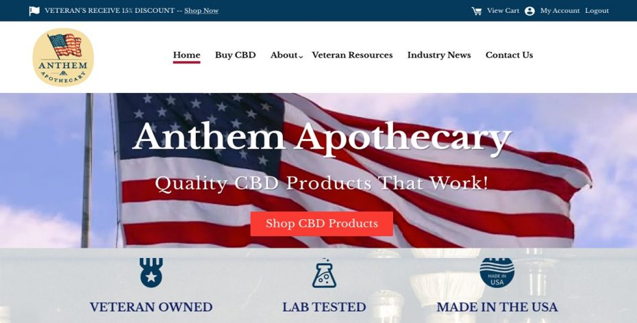 Anthem Apothecary Website Preview