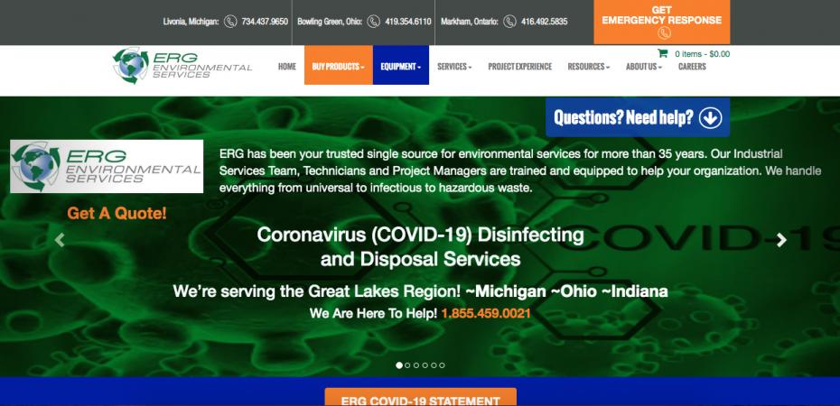 ERG Environmental Website Preview