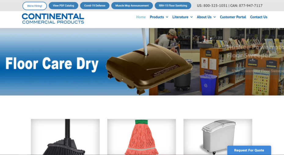 continental-products-website-preview